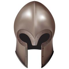 3d medieval Italian closed helmet. Helmet without visor
