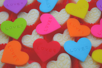 chocolate candies decorated for Valentine day