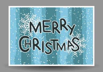 Templates of greeting cards Happy New Year and Merry Christmas.