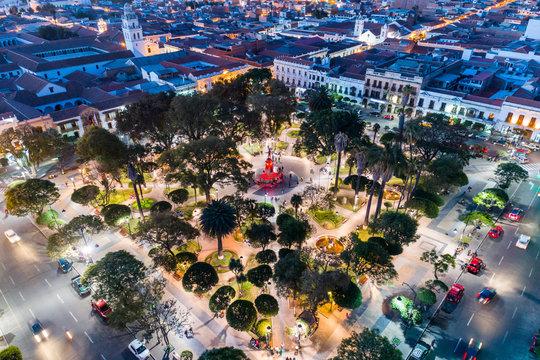 Plaza 25 de Mayo in Sucre, Bolivia