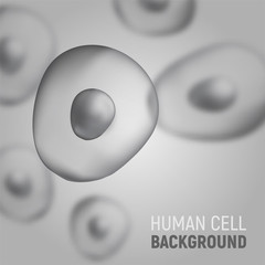 Abstract blured background with human cells. Vector illustration. Template for medicine and biology