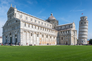 Piazza dei Miracoli  formally known as Piazza del Duomo is located in Pisa, Tuscany, Italy
