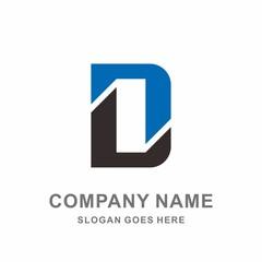 Monogram Letter D Geometric Square Space Architecture Interior Construction Business Company Stock Vector Logo Design Template