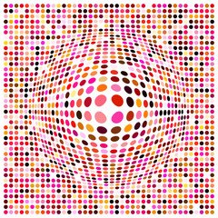 a dots background with a 3d effect