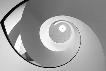 Modern spiral staircase.