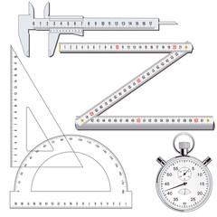 Messen Werkzeuge Sammlung, illustration