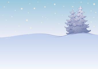 winterlandschaft mit tannen und sternen feierlich