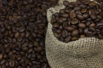 roasted coffee bean in bag