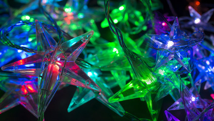 christmas background - christmas decoration - stars shining