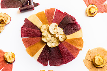 Assorted colorful dried fruit
