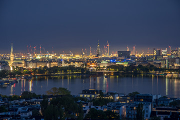 Hamburg Germany - Panorama over the city