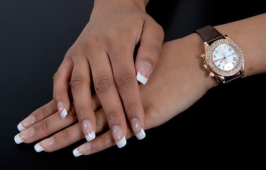 schöne Hände einer Frau