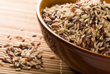 Mixture of Wild, Red, White and Brown Rice