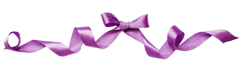 Lilac silk ribbon bow