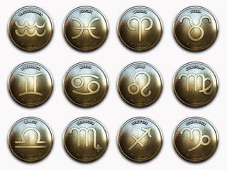 Sternzeichen Embleme Set