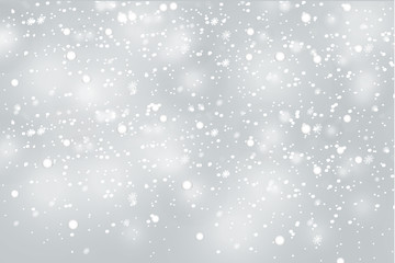 Realistic falling snowflakes. Isolated on transparent background. Vector illustration, eps 10