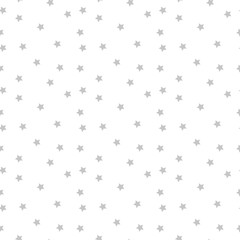 Seamless vector pattern with colored stars on white background.