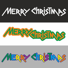 Merry Christmas, Christmas icons, black and gray background, for logo, banners, stickers, cards, invitations, prints, posters, web presentation. Vector illustration