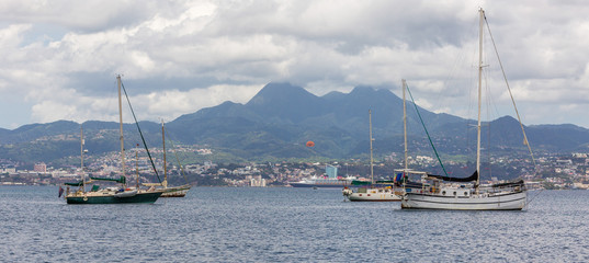 Views of Martinique, beautiful french speaking island of the southern Caribbean