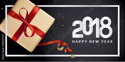 modern new year 2018 greeting card design vector illustration concept for greeting cards web