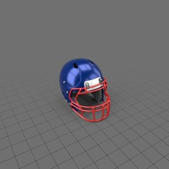 Football helmet with star