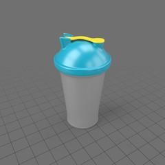 Plastic shake cup