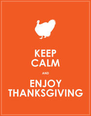 special keep calm banner for thanksgiving day
