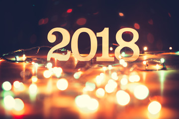 Happy new year 2018 Christmas and New Year background