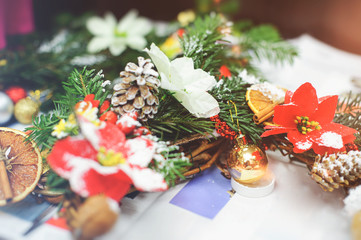 the manufacture of Christmas wreath
