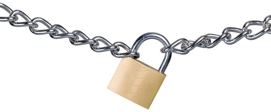 Padlock on a Chain