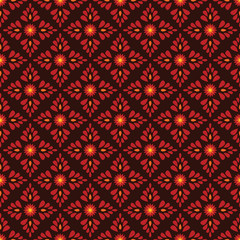 Seamless floral pattern, ethnic ornament, slavic plant pattern