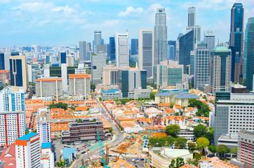 Chinatown and Downotwn of Singapore