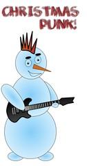 Chrustmas punk snowman