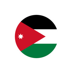 Jordan flag, official colors and proportion correctly. Vector illustration