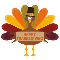 Vector Happy thanksgiving day greeting card