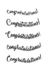 Congratulations lettering. Calligraphy handwritten phrase.