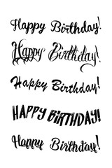 Vintage Happy Birthday Calligraphic and Typographic. Happy Birthday greeting card with lettering design.