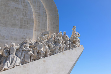 Close-up of Monument to the Discoveries is Lisbon, Portugal