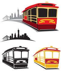 Cable Car Trolley Vector Illustration Pack