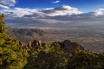 Albuquerque, New Mexico from the Sandia Mountains Crest