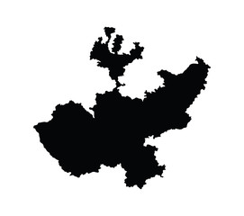 Jalisco, Mexico, vector map isolated on white background. High detailed silhouette illustration.