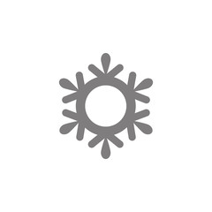 snowflake Icon. Simple web black icon, can be used as web element icon