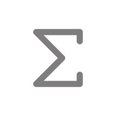 Sigma greek letter icon. Simple web black icon, can be used as web element icon