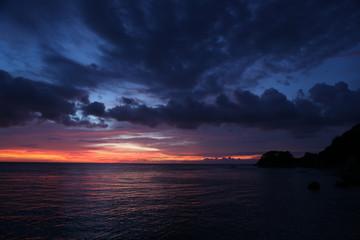 Boracay on sunset background