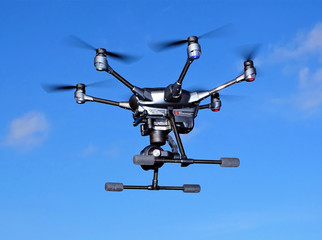 Flying Drone - Critical Infrastructure Inspection - Large Commercial Video  Imaging Platform - Unmanned Aircraft System - Hexacopter Design - Police and Emergency Services Use
