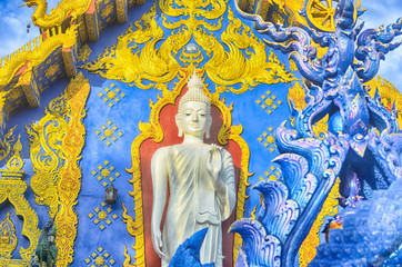 Blue Temple Wat Rong Sua Ten of Chiangrai Thailand