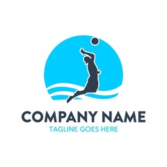unique beach volleyball logo