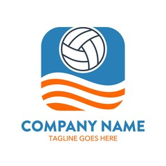 unique beach volleyball logo