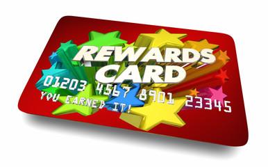 Rewards Card Credit Account Benefits Incentives 3d Illustration