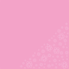 floral frame on a pink background prints, greeting cards, invitations for holiday, birthday, wedding, Valentine's day, party